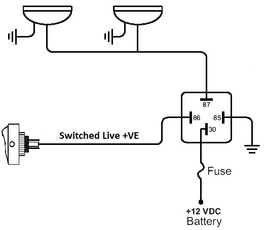 able manuals simple relay wiring diagram image
